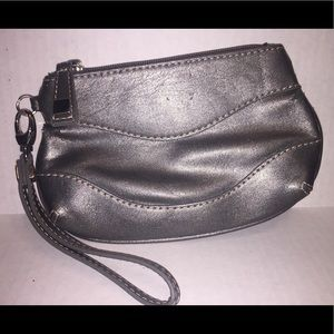 NY&C's Gray Faux PU Leather Wristlet
